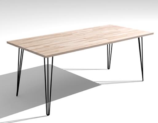 Tafel Met Hairpin Poten.Neok Design Hairpin
